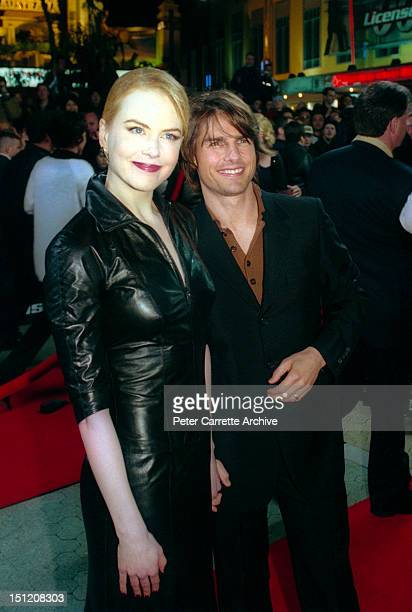 Actor Tom Cruise and his wife Nicole Kidman arrive for the premiere of his new film 'Mission Impossible 2' at Fox Studios on May 30 2000 in Sydney...