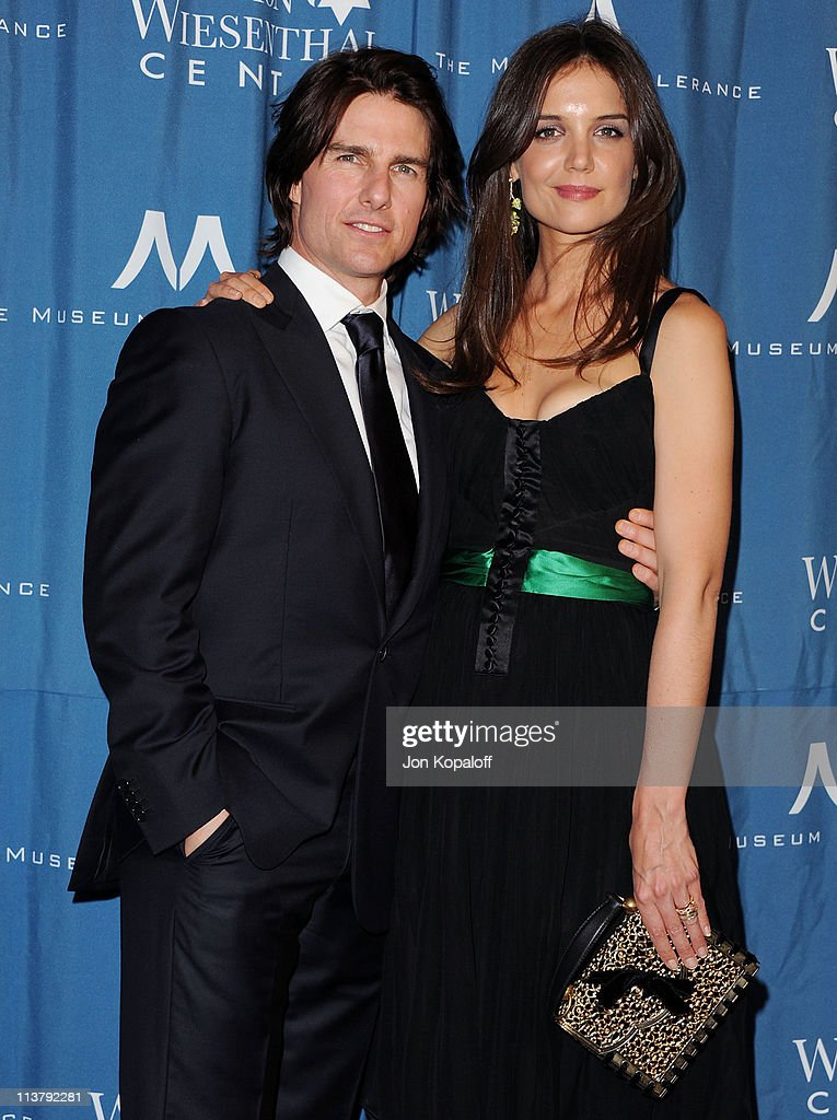 Actor <a gi-track='captionPersonalityLinkClicked' href=/galleries/search?phrase=Tom+Cruise&family=editorial&specificpeople=156405 ng-click='$event.stopPropagation()'>Tom Cruise</a> and wife actress <a gi-track='captionPersonalityLinkClicked' href=/galleries/search?phrase=Katie+Holmes&family=editorial&specificpeople=201598 ng-click='$event.stopPropagation()'>Katie Holmes</a> arrive at the Simon Wiesenthal Center Annual National Tribute Dinner Honoring <a gi-track='captionPersonalityLinkClicked' href=/galleries/search?phrase=Tom+Cruise&family=editorial&specificpeople=156405 ng-click='$event.stopPropagation()'>Tom Cruise</a> at the Beverly Wilshire Four Seasons Hotel on May 5, 2011 in Beverly Hills, California.