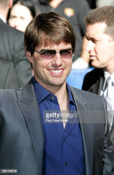 Actor Tom Cruise arrives at 'The Late Show With David Letterman' June 23 2005 in New York City
