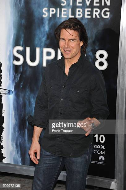Actor Tom Cruise arrives at the Premiere of Paramount Pictures' 'Super 8' held at the Regency Village Theater in Westwood