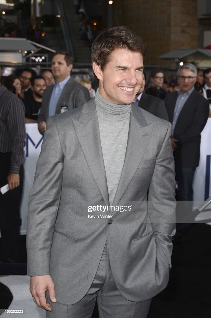 Actor Tom Cruise arrives at the premiere of Universal Pictures' 'Oblivion' at Dolby Theatre on April 10, 2013 in Hollywood, California.