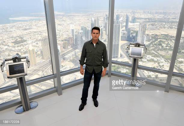 Actor Tom Cruise attends a photocall ahead of the 'Mission Impossible Ghost Protocol' Press Conference during the 8th Annual Dubai International Film...