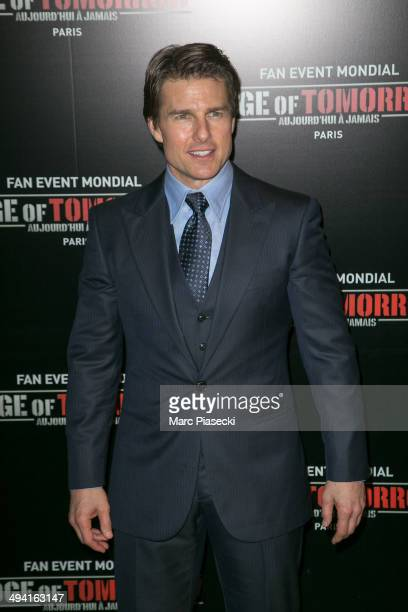 Actor Tom Cruise attends the 'Edge Of Tomorrow' Photocall at Cinema UGC Normandie on May 28 2014 in Paris France