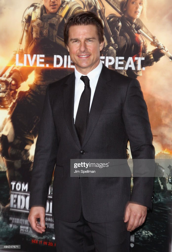 Actor Tom Cruise attends the 'Edge Of Tomorrow' red carpet repeat fan premiere tour at AMC Loews Lincoln Square on May 28, 2014 in New York City.