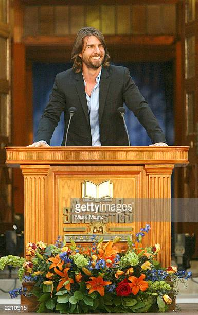 Actor Tom Cruise attends the grand opening of Applied Scholastics International new headquarters July 26 2003 in StLouis Missouri Applied Scholastics...