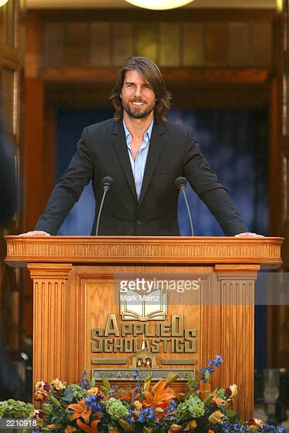 Actor Tom Cruise attends the grand opening of Applied Scholastics International new headquarters on July 26 2003 in StLouis Missouri Applied...