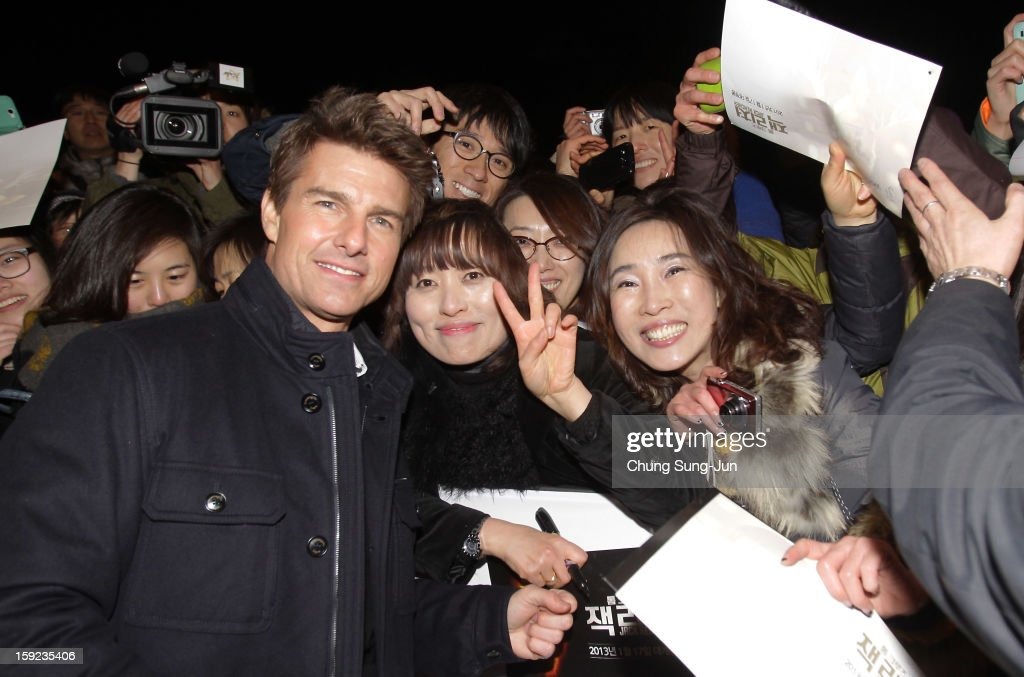 Actor Tom Cruise attends the 'Jack Reacher' Fan Screening at Busan Cinema Center on January 10, 2013 in Busan, South Korea. The film will open on January 17 in Korea.