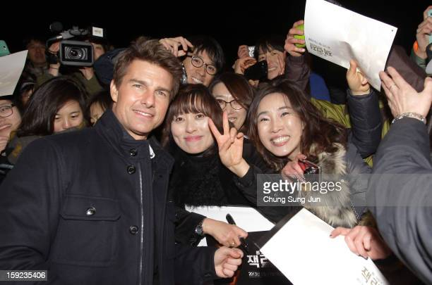 Actor Tom Cruise attends the 'Jack Reacher' Fan Screening at Busan Cinema Center on January 10 2013 in Busan South Korea The film will open on...
