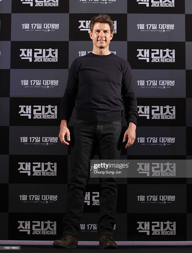 Actor Tom Cruise attends the 'Jack Reacher' press conference at Conrad Hotel on January 10, 2013 in Seoul, South Korea. The film will open on January 17 in Korea.