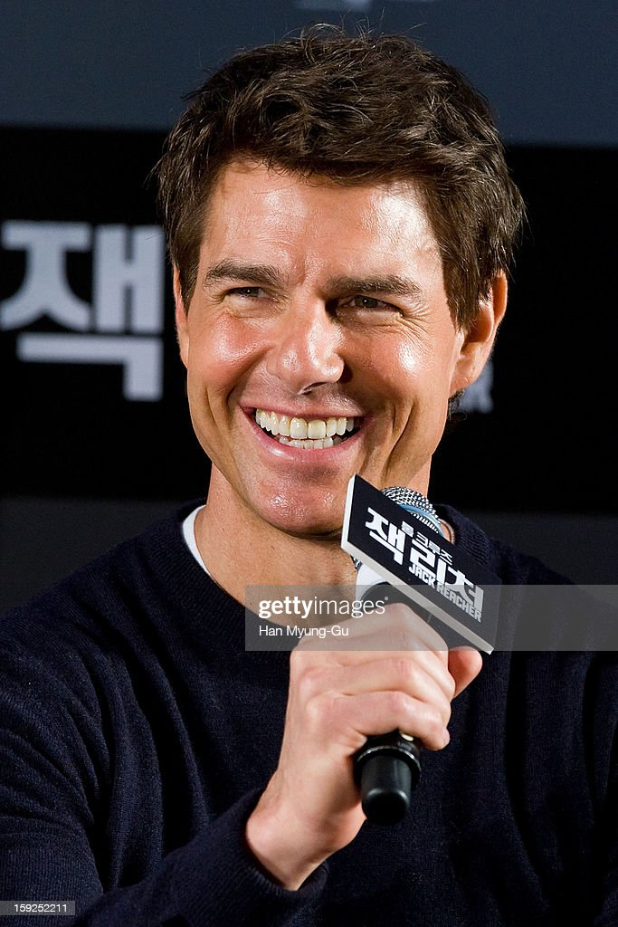 Actor Tom Cruise attends the 'Jack Reacher' press conference at Conrad Hotel on January 10, 2013 in Seoul, South Korea. The film will open on January 17 in South Korea.