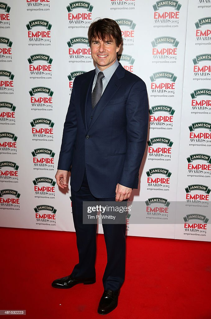Actor <a gi-track='captionPersonalityLinkClicked' href=/galleries/search?phrase=Tom+Cruise&family=editorial&specificpeople=156405 ng-click='$event.stopPropagation()'>Tom Cruise</a> attends the Jameson Empire Awards 2014 at the Grosvenor House Hotel on March 30, 2014 in London, England. Regarded as a relaxed end to the awards show season, the Jameson Empire Awards celebrate the film industry's success stories of the year with winners being voted for entirely by members of the public. Visit empireonline.com/awards2014 for more information.