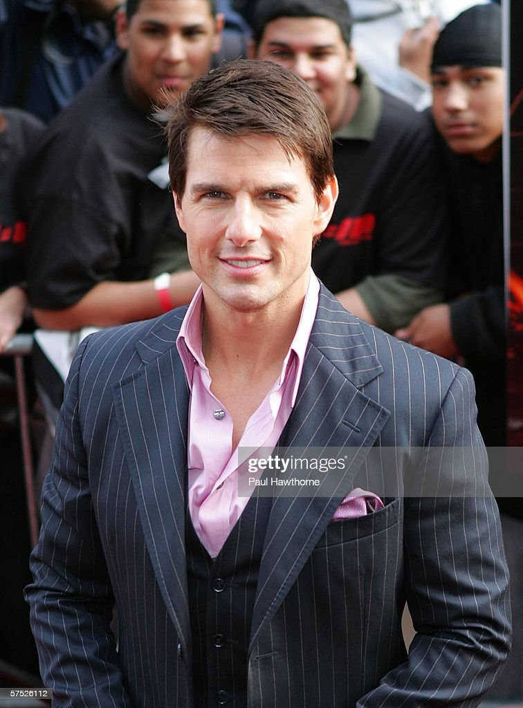 Actor <a gi-track='captionPersonalityLinkClicked' href=/galleries/search?phrase=Tom+Cruise&family=editorial&specificpeople=156405 ng-click='$event.stopPropagation()'>Tom Cruise</a> attends the 'Mission: Impossible III' premiere in Harlem at the Magic Johnson Theatres on May 3, 2006 in New York City.