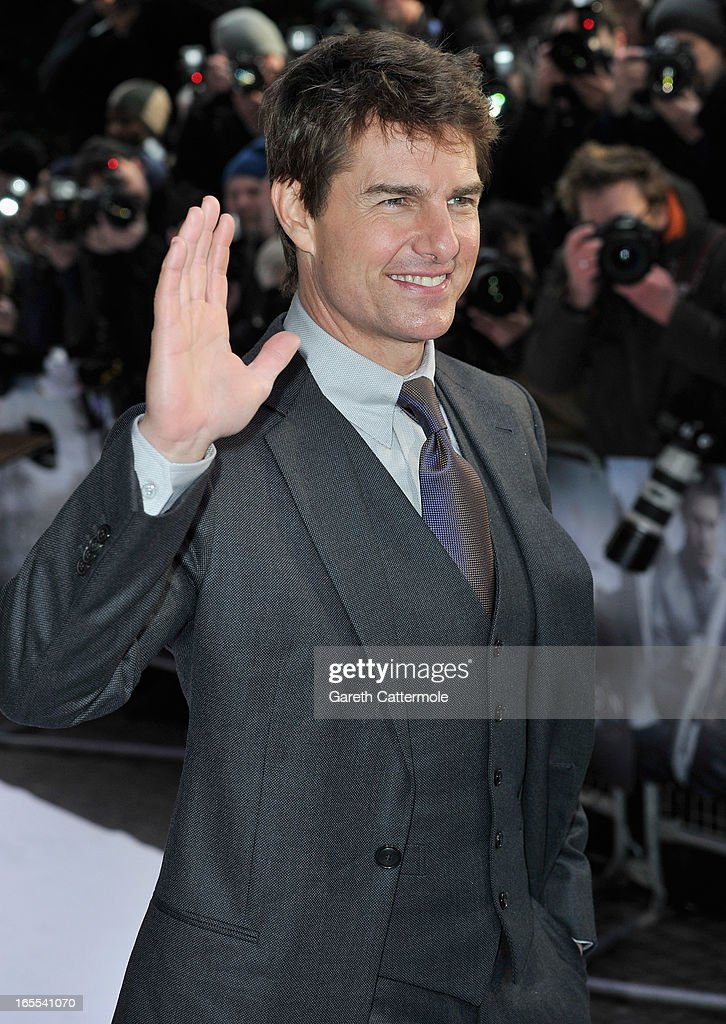 Actor Tom Cruise attends the 'Oblivion' UK film premiere at the BFI IMAX on April 4, 2013 in London, England.