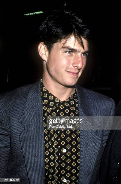 Actor Tom Cruise attends the 'Top Gun' Premiere Party on May 12 1986 at America in New York City
