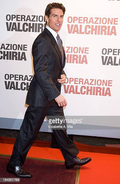 Actor Tom Cruise attends 'Valkyrie' premiere at Conciliazione Auditorium on January 28 2009 in Rome Italy