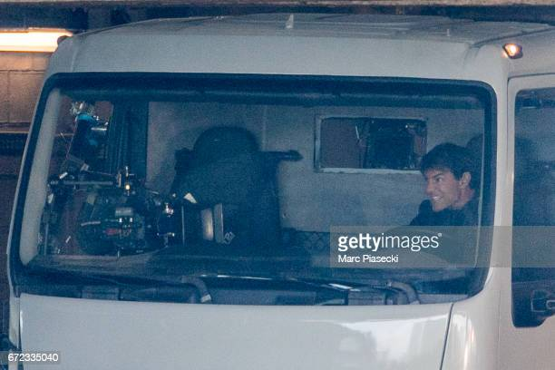 Actor Tom Cruise is seen on the set of 'MissionImpossible 6 Gemini' on April 24 2017 in Paris France