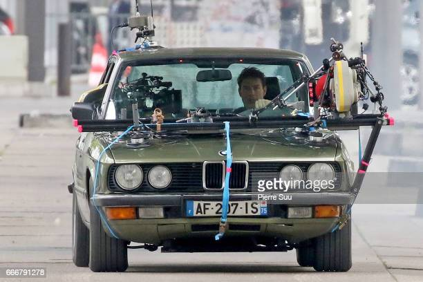 Actor Tom Cruise is spotted on the set of 'Mission Impossible 6 Gemini' on April 10 2017 in Paris France