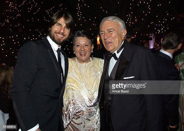 Actor Tom Cruise poses with New York Congressman Ben Gilman and his wife Georgia during the Church of Scientology's 33rd Anniversary Gala at the...