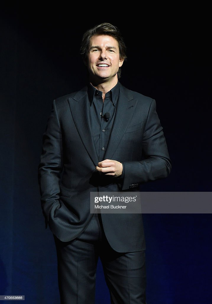 Actor <a gi-track='captionPersonalityLinkClicked' href=/galleries/search?phrase=Tom+Cruise&family=editorial&specificpeople=156405 ng-click='$event.stopPropagation()'>Tom Cruise</a> speaks onstage during The State of the Industry: Past, Present and Future and Paramount Pictures Presentation at The Colosseum at Caesars Palace during CinemaCon, the official convention of the National Association of Theatre Owners, on April, 21, 2015 in Las Vegas, Nevada.
