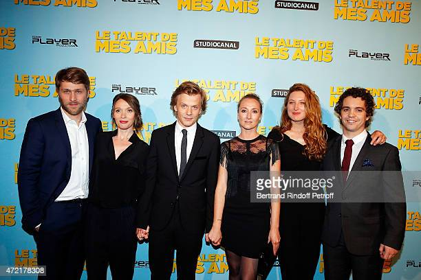 Actor Tom Dingler Actress Anne Marivin Actor and Director Alex Lutz Actress Audrey Lamy Actress Julia Piaton and Actor Bruno Sanches attend 'Le...