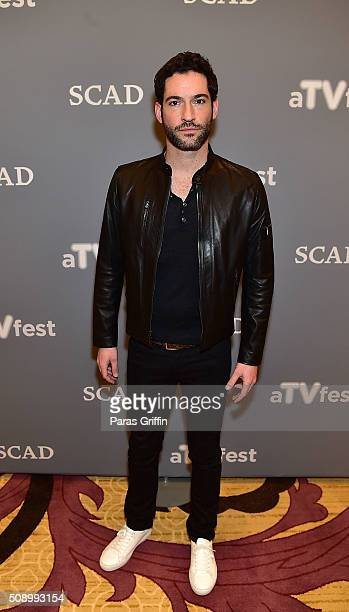 Actor Tom Ellis attends 'Lucifer' event during aTVfest 2016 presented by SCAD on February 7 2016 in Atlanta Georgia