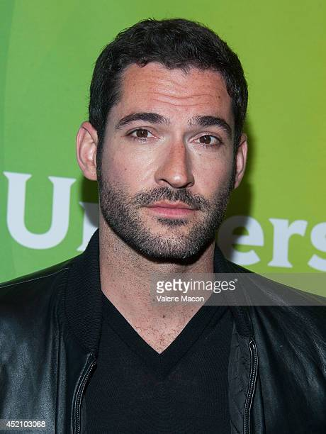 Actor Tom Ellis attends NBCUniversal's 2014 Summer TCA Tour Day 1 at The Beverly Hilton Hotel on July 13 2014 in Beverly Hills California