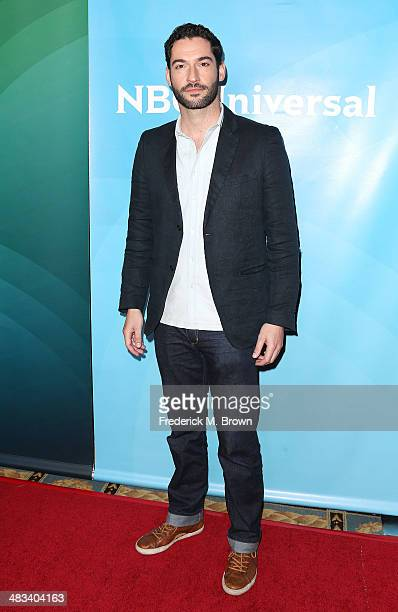 Actor Tom Ellis attends NBCUniversal's Summer Press Day at The Langham Huntington Hotel and Spa on April 8 2014 in Pasadena California