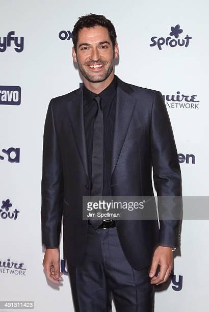 Actor Tom Ellis attends the 2014 NBCUniversal Cable Entertainment Upfronts at The Jacob K Javits Convention Center on May 15 2014 in New York City