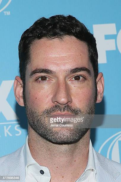 Actor Tom Ellis attends the 2015 FOX programming presentation at Wollman Rink in Central Park on May 11 2015 in New York City