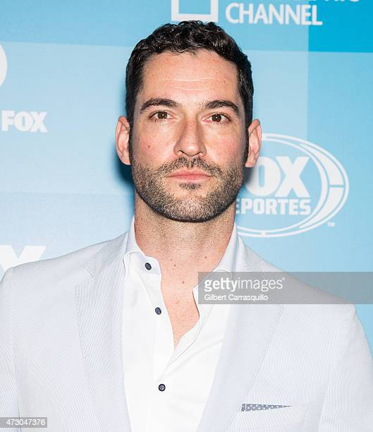 Actor Tom Ellis attends the 2015 FOX Programming Presentation at Wollman Rink Central Park on May 11 2015 in New York City