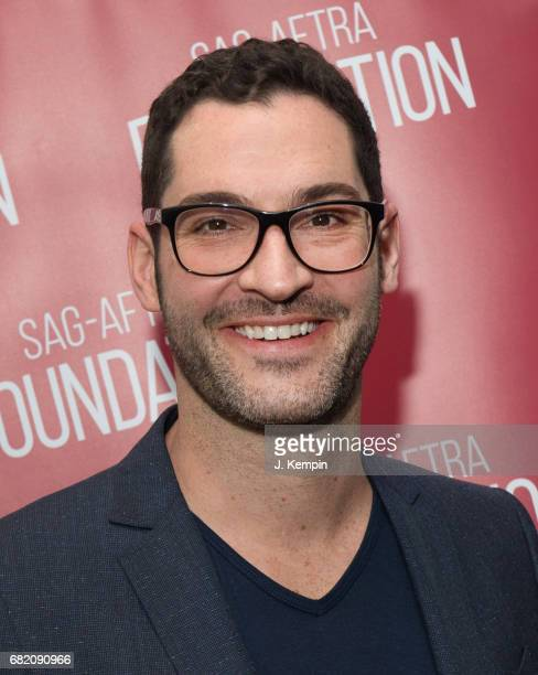 Actor Tom Ellis attends the SAGAFTRA Foundation Conversations With Tom Ellis Of 'Lucifer' at The Robin Williams Center for Entertainment and Media on...