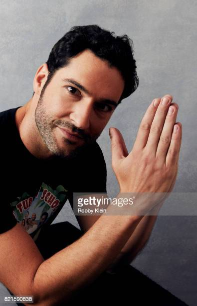 Actor Tom Ellis from Fox's 'Lucifer' poses for a portrait during ComicCon 2017 at Hard Rock Hotel San Diego on July 22 2017 in San Diego California