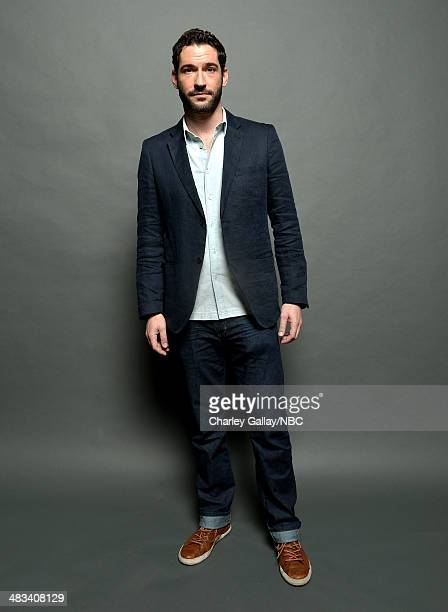 Actor Tom Ellis poses for a portrait during the 2014 NBCUniversal Summer Press Day at The Langham Huntington on April 8 2014 in Pasadena California...