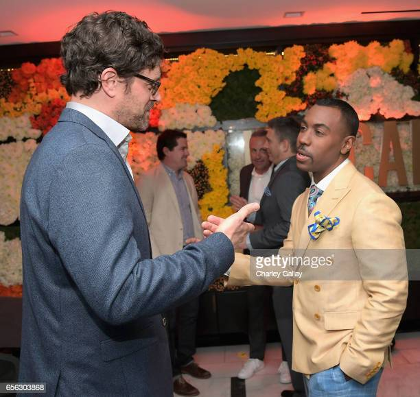 Actor Tom Everett Scott and Creator/Host Prentice Penny at truTV's 'Upscale with Prentice Penny' Premiere at The London Hotel on March 21 2017 in...