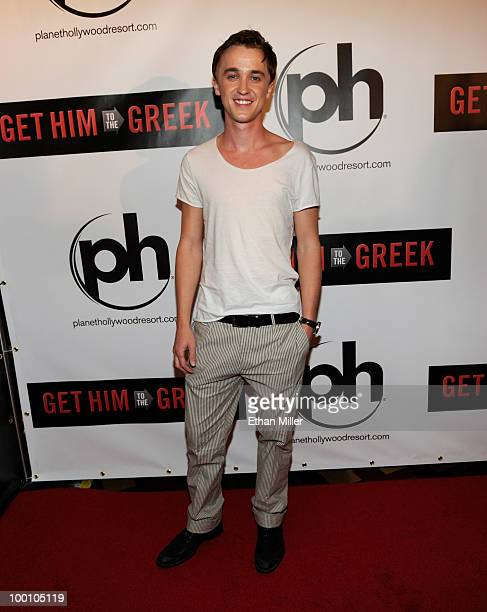 Actor Tom Felton arrives at a screening of Universal Pictures' 'Get Him to the Greek' at the Planet Hollywood Resort Casino May 20 2010 in Las Vegas...