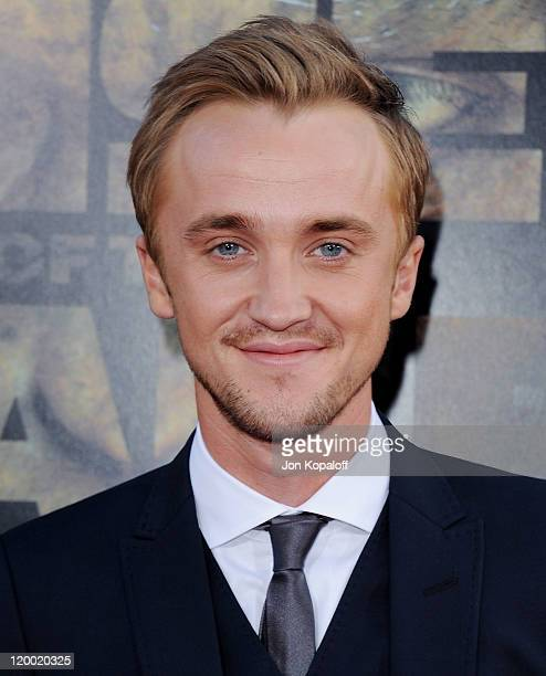 Actor Tom Felton arrives at the Los Angeles Premiere 'Rise Of The Planet Of The Apes' at Grauman's Chinese Theatre on July 28 2011 in Hollywood...