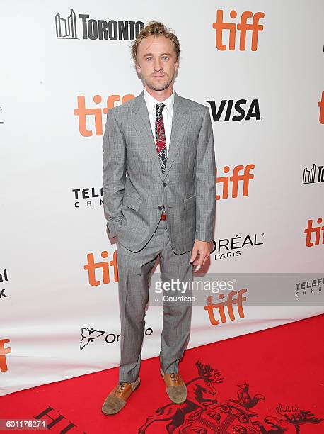 Actor Tom Felton attends the 2016 Toronto International Film Festival premiere of 'A United Kingdom' at Roy Thomson Hall on September 9 2016 in...