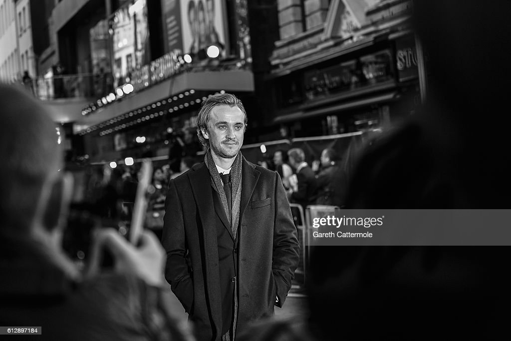 Actor Tom Felton attends the 'A United Kingdom' Opening Night Gala screening during the 60th BFI London Film Festival at Odeon Leicester Square on October 5, 2016 in London, England.
