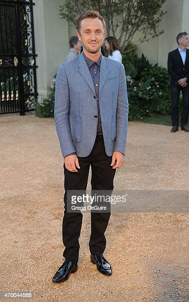 Actor Tom Felton attends the Burberry 'London in Los Angeles' event at Griffith Observatory on April 16 2015 in Los Angeles California