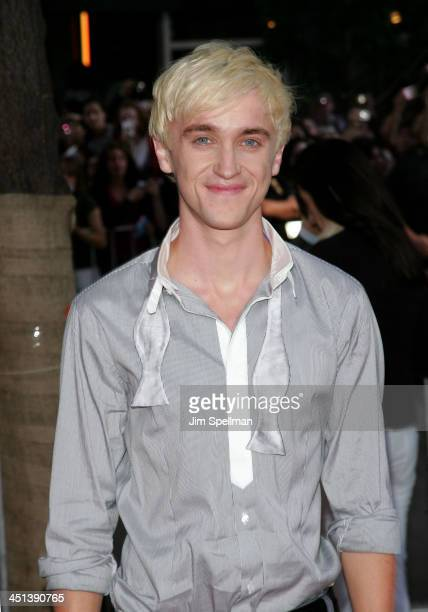 Actor Tom Felton attends the Harry Potter and the HalfBlood Prince premiere at Ziegfeld Theatre on July 9 2009 in New York City