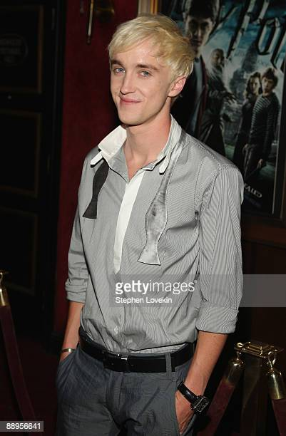 Actor Tom Felton attends the 'Harry Potter and the HalfBlood Prince' premiere at Ziegfeld Theatre on July 9 2009 in New York City