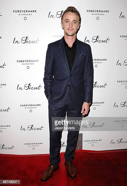 Actor Tom Felton attends the premiere of 'In Secret' at ArcLight Hollywood on February 6 2014 in Hollywood California