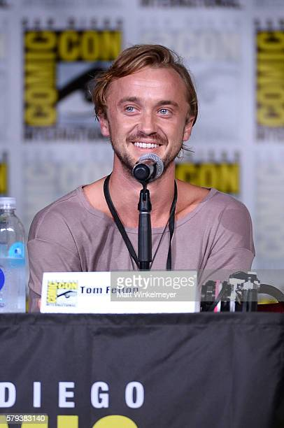 Actor Tom Felton attends the 'The Flash' Special Video Presentation and QA during ComicCon International 2016 at San Diego Convention Center on July...