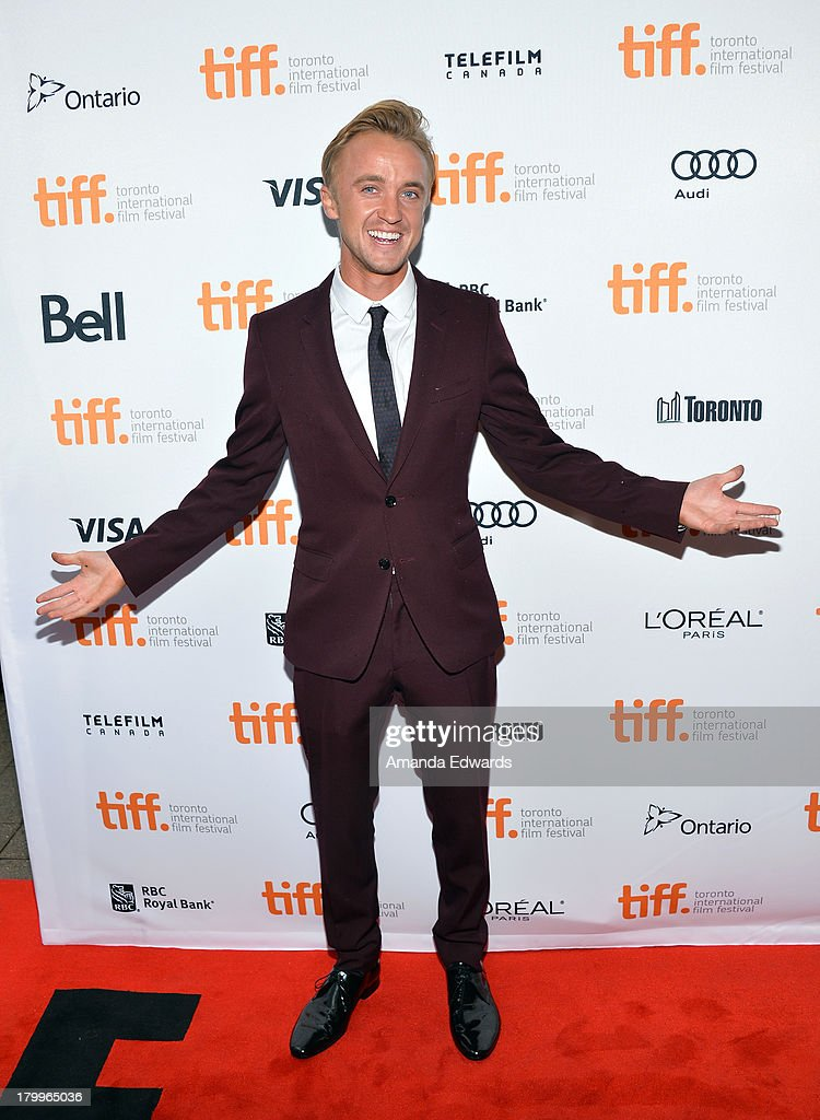 Actor <a gi-track='captionPersonalityLinkClicked' href=/galleries/search?phrase=Tom+Felton&family=editorial&specificpeople=2166394 ng-click='$event.stopPropagation()'>Tom Felton</a> attends the 'Therese' premiere during the 2013 Toronto International Film Festival at Isabel Bader Theatre on September 7, 2013 in Toronto, Canada.