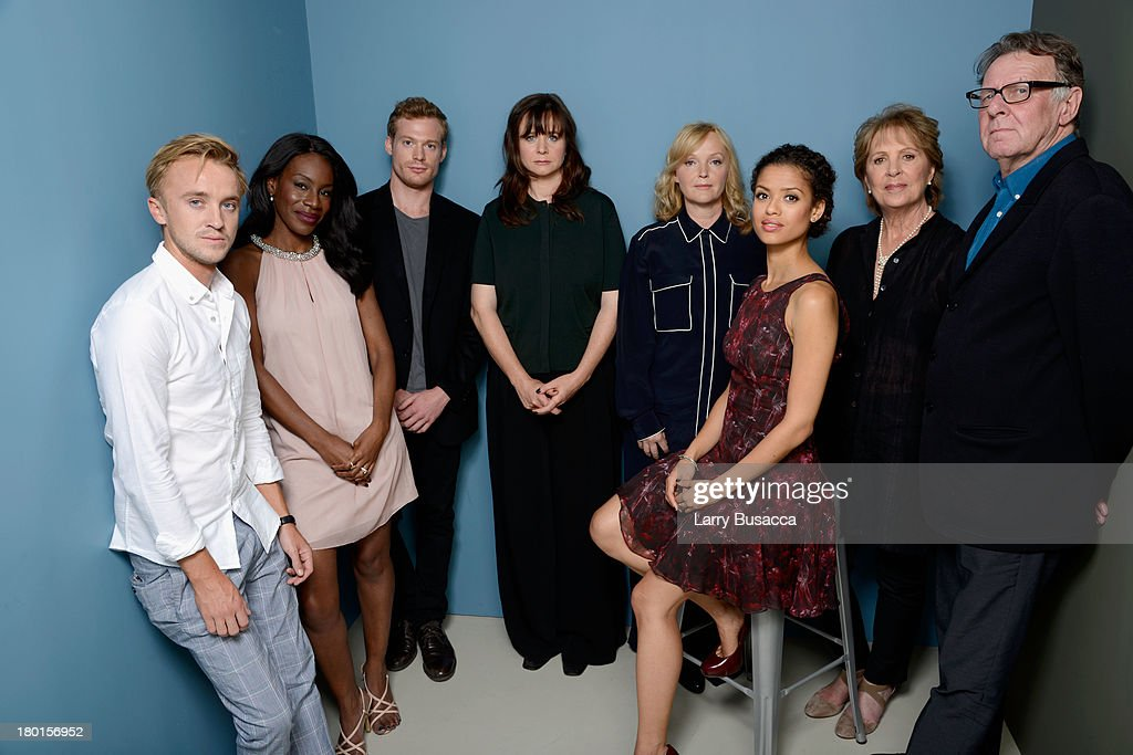 Actor <a gi-track='captionPersonalityLinkClicked' href=/galleries/search?phrase=Tom+Felton&family=editorial&specificpeople=2166394 ng-click='$event.stopPropagation()'>Tom Felton</a>, director Amma Asante, actor Sam Reid, actress <a gi-track='captionPersonalityLinkClicked' href=/galleries/search?phrase=Emily+Watson&family=editorial&specificpeople=207041 ng-click='$event.stopPropagation()'>Emily Watson</a>, actress <a gi-track='captionPersonalityLinkClicked' href=/galleries/search?phrase=Miranda+Richardson&family=editorial&specificpeople=203223 ng-click='$event.stopPropagation()'>Miranda Richardson</a>, actress Gugu Mbatha Raw, actress <a gi-track='captionPersonalityLinkClicked' href=/galleries/search?phrase=Penelope+Wilton&family=editorial&specificpeople=228063 ng-click='$event.stopPropagation()'>Penelope Wilton</a> and actor <a gi-track='captionPersonalityLinkClicked' href=/galleries/search?phrase=Tom+Wilkinson&family=editorial&specificpeople=215345 ng-click='$event.stopPropagation()'>Tom Wilkinson</a> of 'Belle' pose at the Guess Portrait Studio during 2013 Toronto International Film Festival on September 9, 2013 in Toronto, Canada.