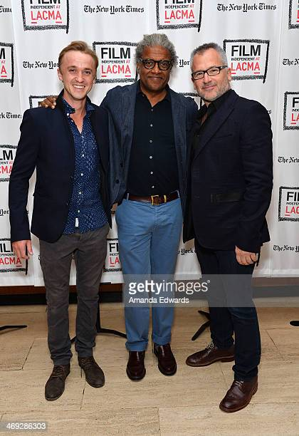 Actor Tom Felton Film Independent at LACMA Film Curator Elvis Mitchell and director Charlie Stratton attend the Film Independent at LACMA Screening...