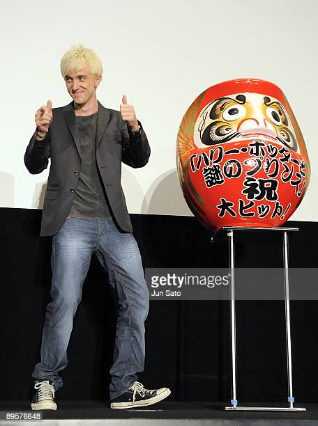 Actor Tom Felton Promotes 'Harry Potter And The HalfBlood Prince' at Marunouchi Piccadilly on August 1 2009 in Tokyo Japan