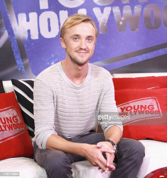 Actor Tom Felton visits the Young Hollywood Studio on August 26 2013 in Los Angeles California