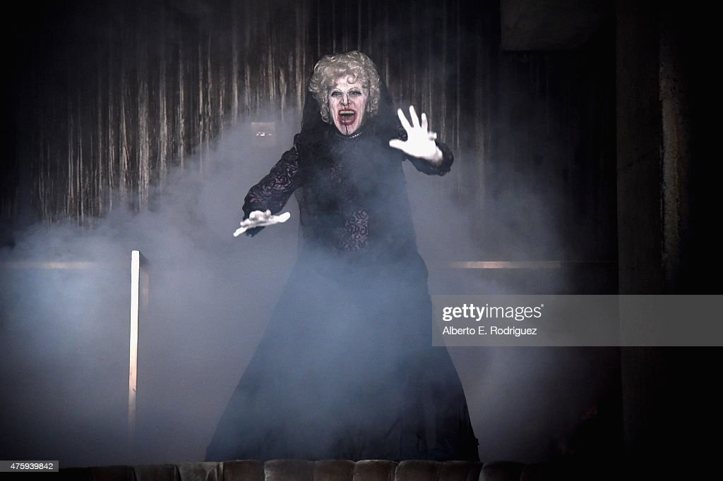 Actor Tom Fitzpatrick dressed as the Bride In Black attends the after ...