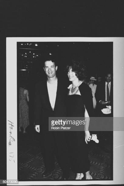 Actor Tom Hanks actress wife Rita Wilson at movie premiere of A League of Their Own at Ziegfield Theater